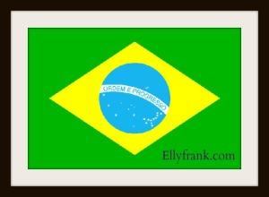 flagge-brasilien mit rahmen