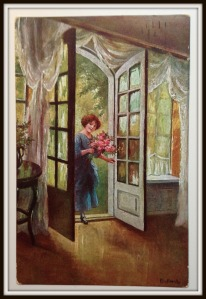Gratulantin, Postkarte Elly Frank