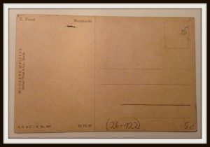 """Postkarte von Elly Frank, """"Mondnacht"""""""