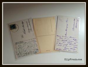 Rückseite Postkarten Elly Frank 2.2.2015 mit Rahmen