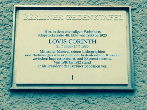 Lovis Corinth Gedenktafel